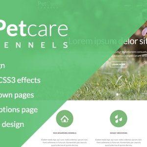 PetCare Dog Kennels WordPress Theme